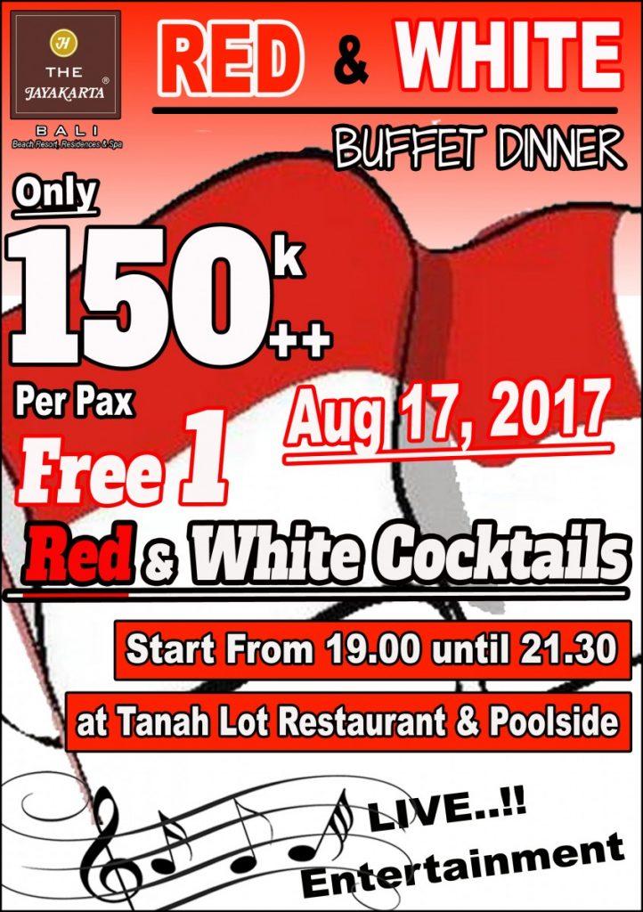 Flyer Red White Buffet Dinner Bali
