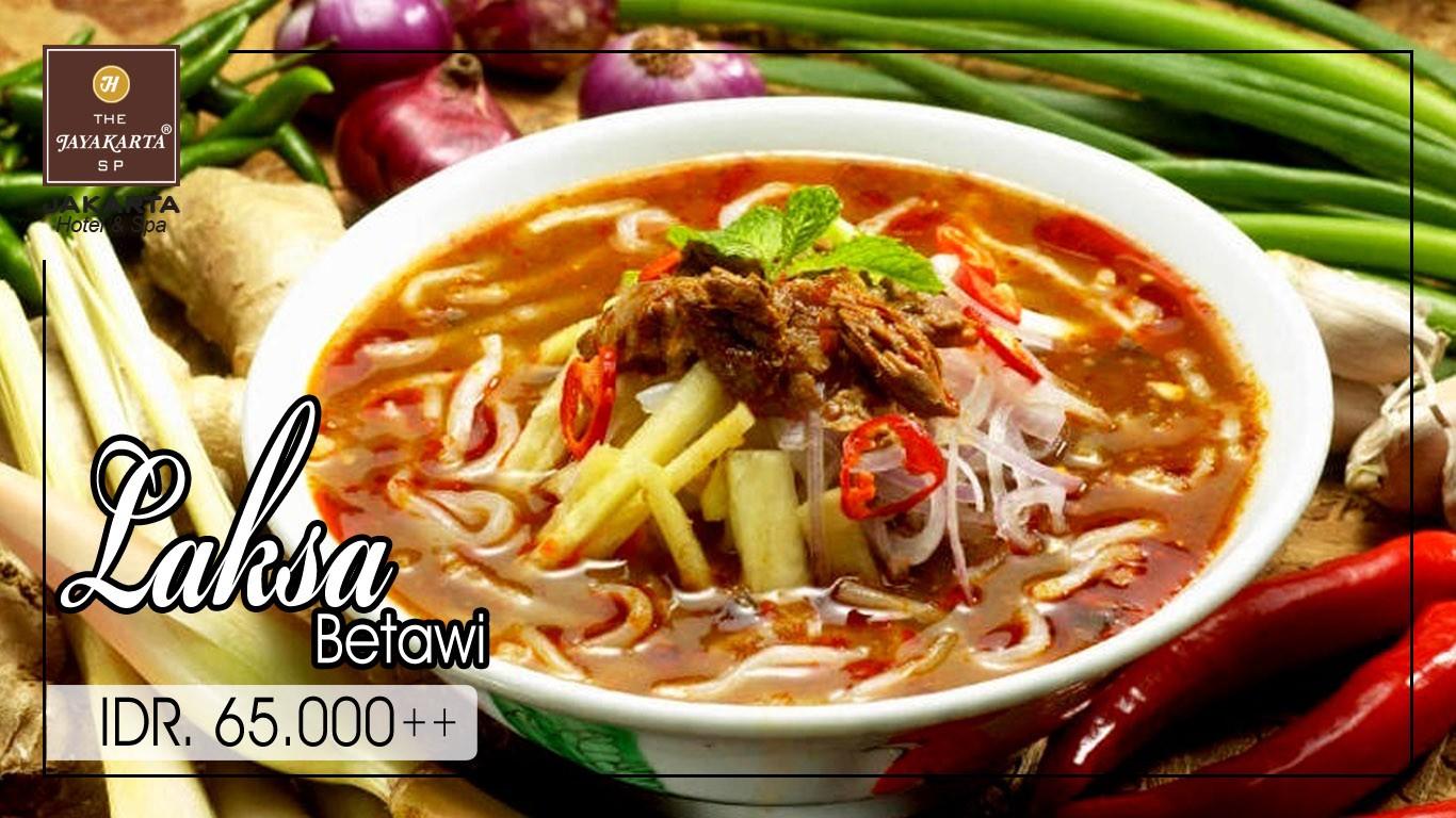 HDTV layout food poster jakarta anniversary laksa betawi