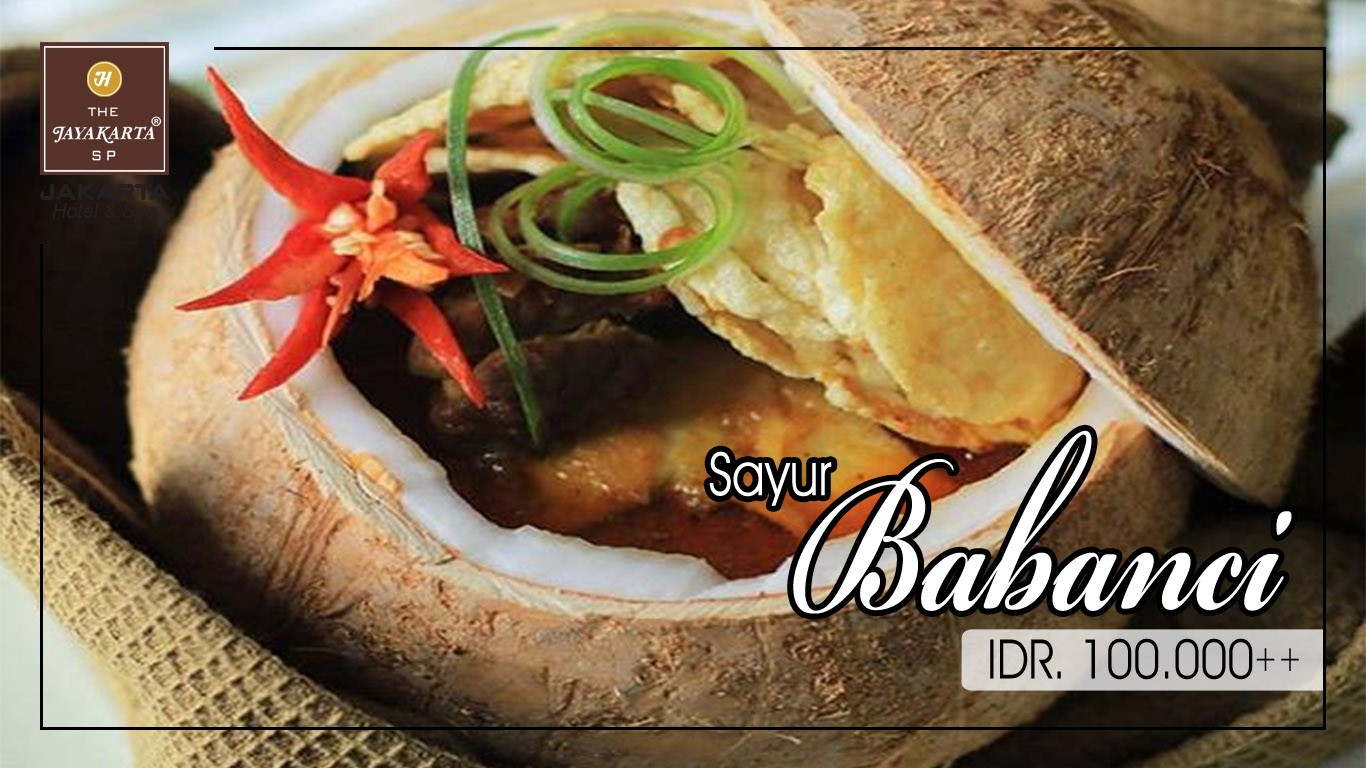 HDTV layout food poster jakarta anniversary sayur babanci