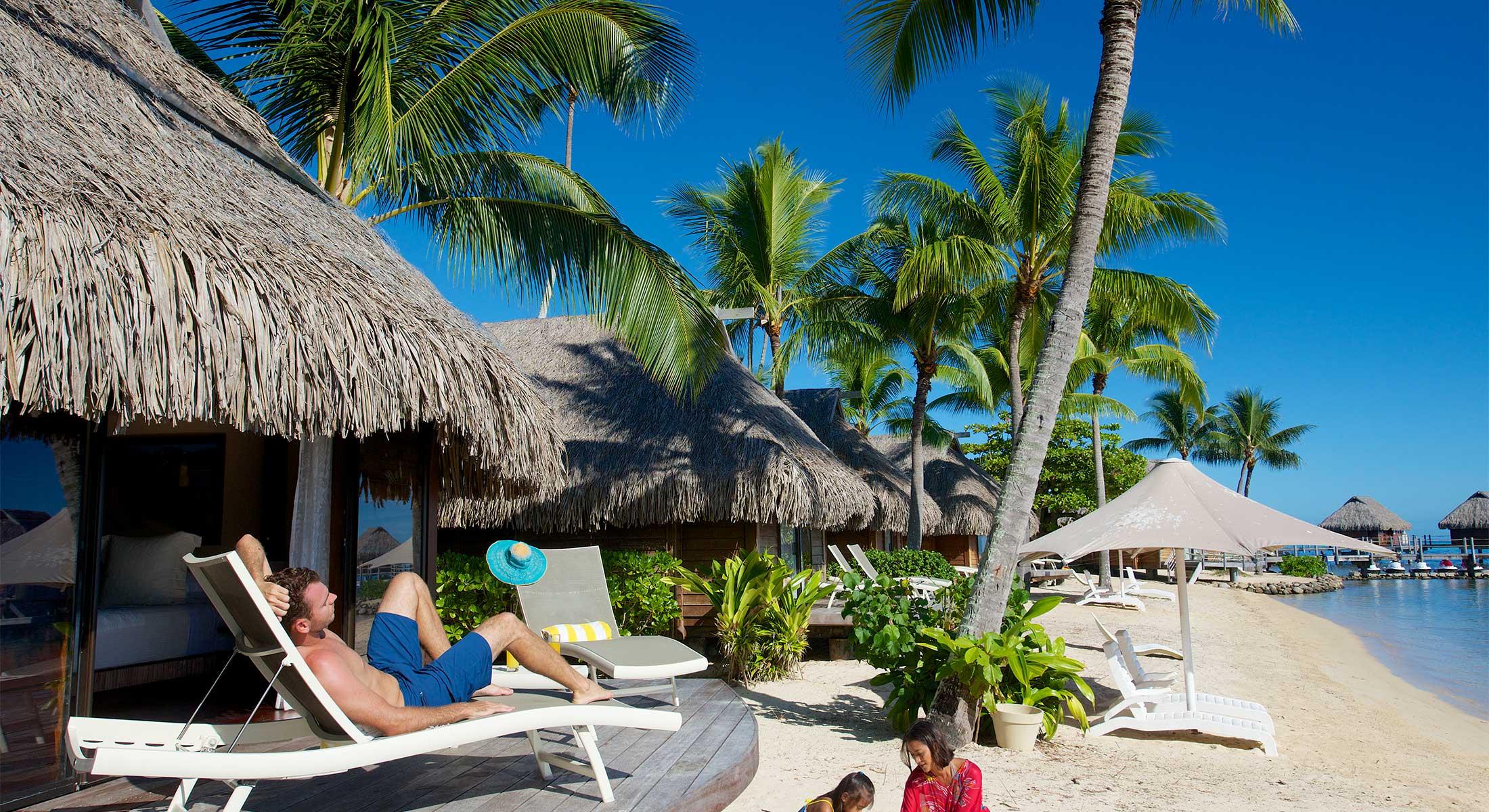 Accommodation  Beach Bungalow Moorea Hotel  Manava Beach