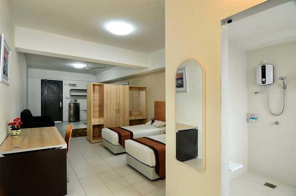 rooms - deluxe one bedroom studio kuala lumpur hotel - one-stop