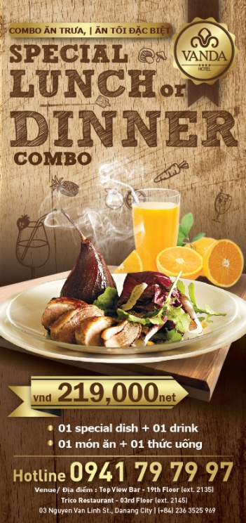 Lunch combo + Dinner combo flyer 99x210