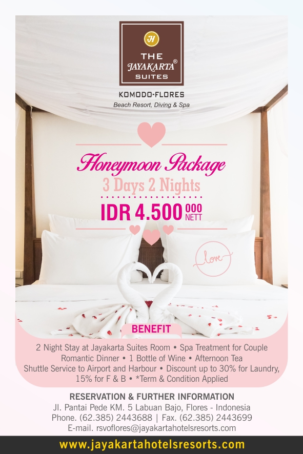 Honeymoon Package Jayakarta Flores 2018