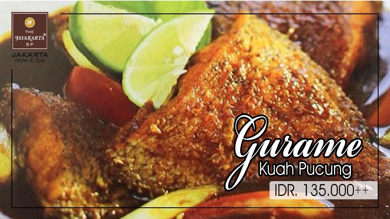HDTV layout food poster jakarta anniversary gurame kuah pucung