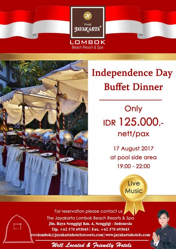 Dinner Buffet Agustus Lombok