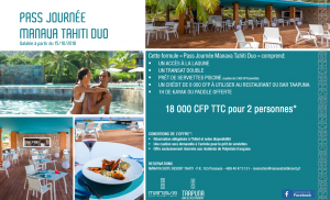 Day Pass DUO MANAVA TAHITI SEPT 2018