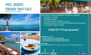 Day Pass SOLO MANAVA TAHITI SEPT 2018