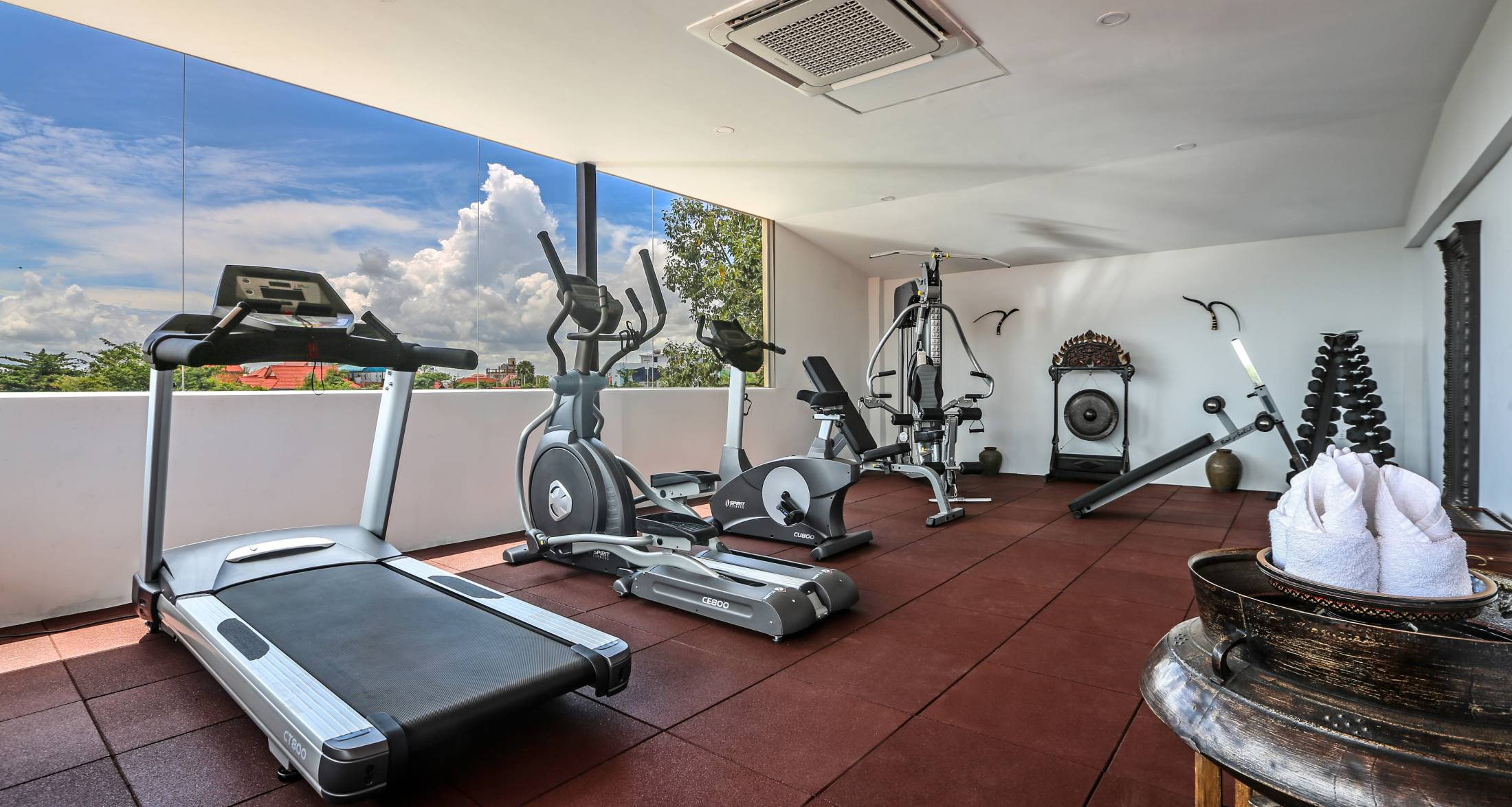 Wellness and spa centre sunset gym room siem reap near angkor
