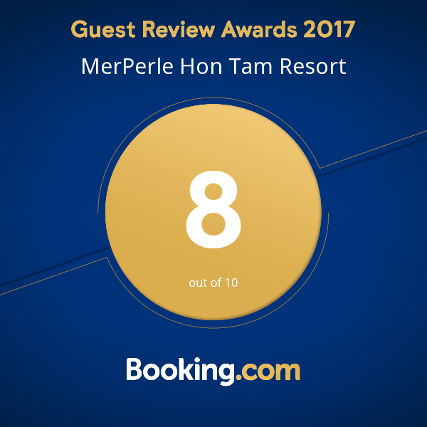 MERPERLE HON TAM RESORT GIVEN THE BOOKING.COM REVIEW AWARD 2017