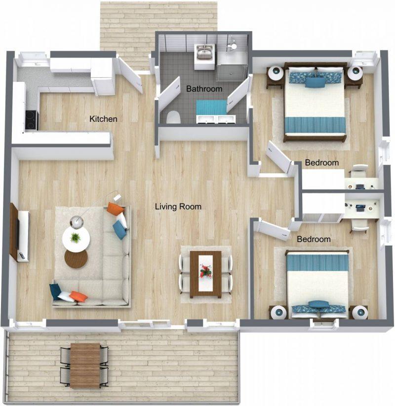 Our Rooms Villas 2 Bedroom Villas Busselton Hotel