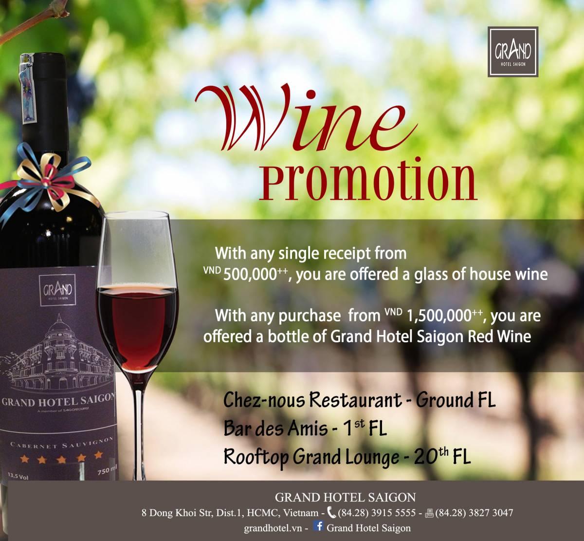 wine promotion ngang