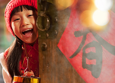 Portrait of girl on Chinese New Year