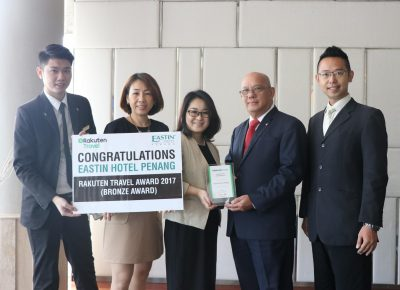Eastin Hotel Penang Win Bronze For Rakuten Travel Awards 2017