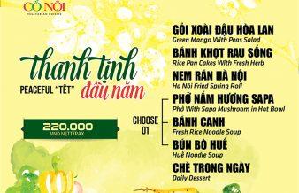 menu Tết Cỏ Nội Vegetarian