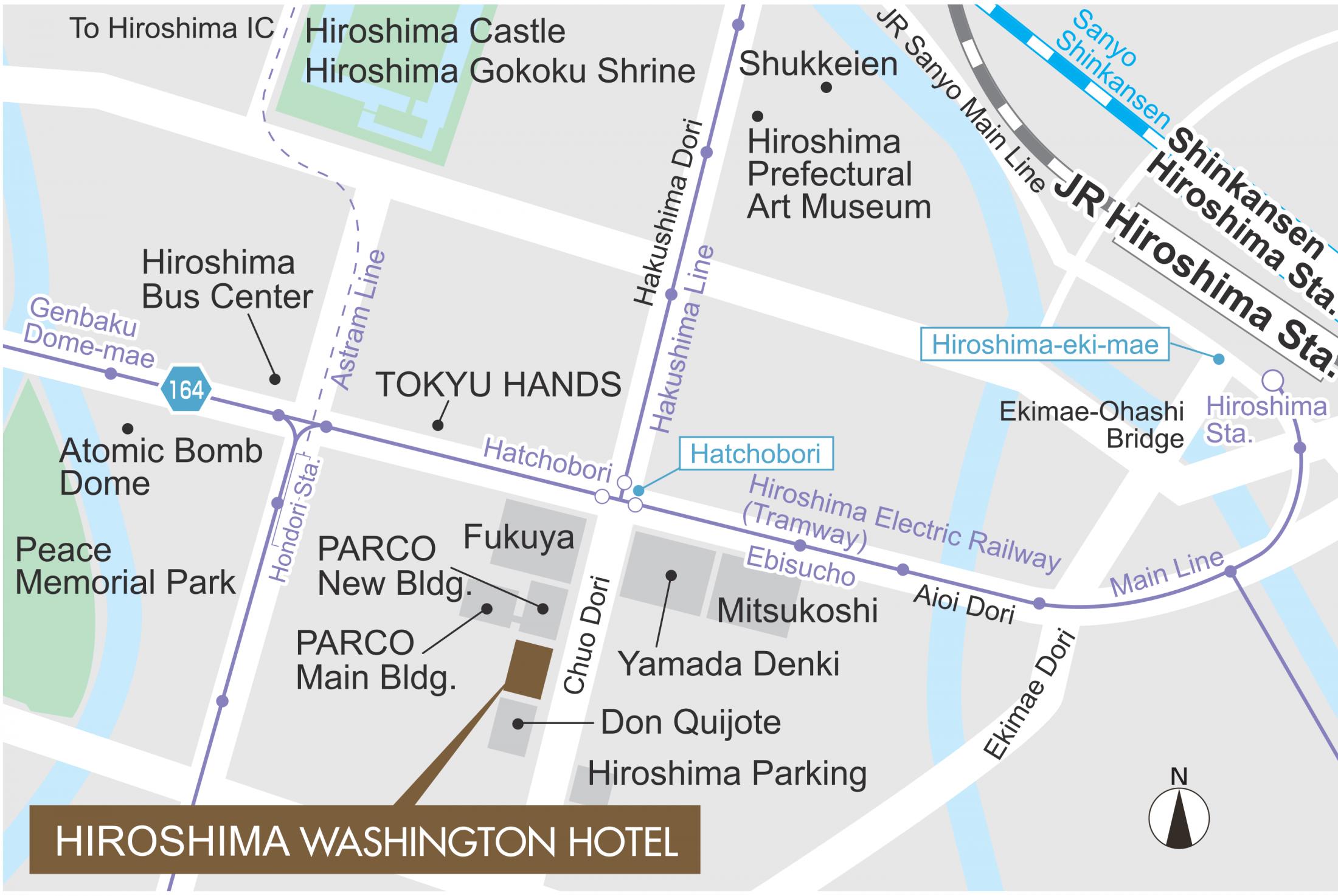 Location Hiroshima Washington Hotel