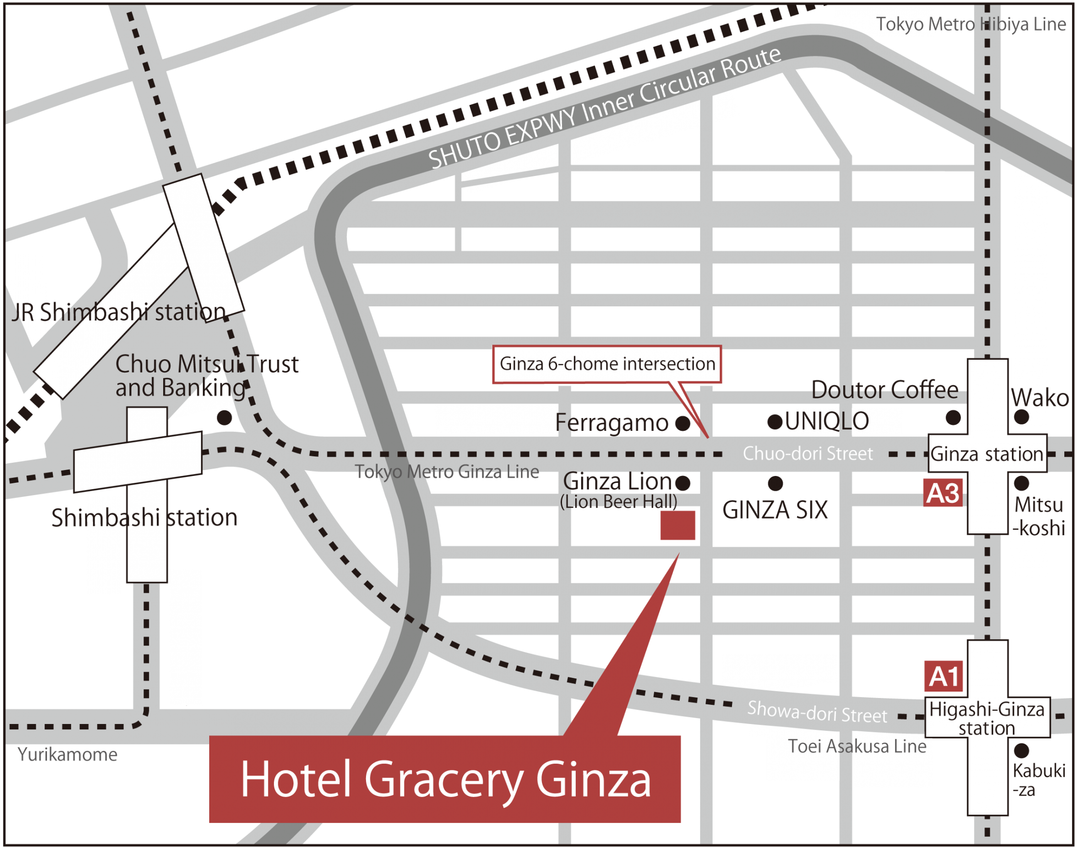 Haneda Airport Tokyo Metro Subway Map.Location Hotel Gracery Ginza Tokyo In Tokyo Official Website