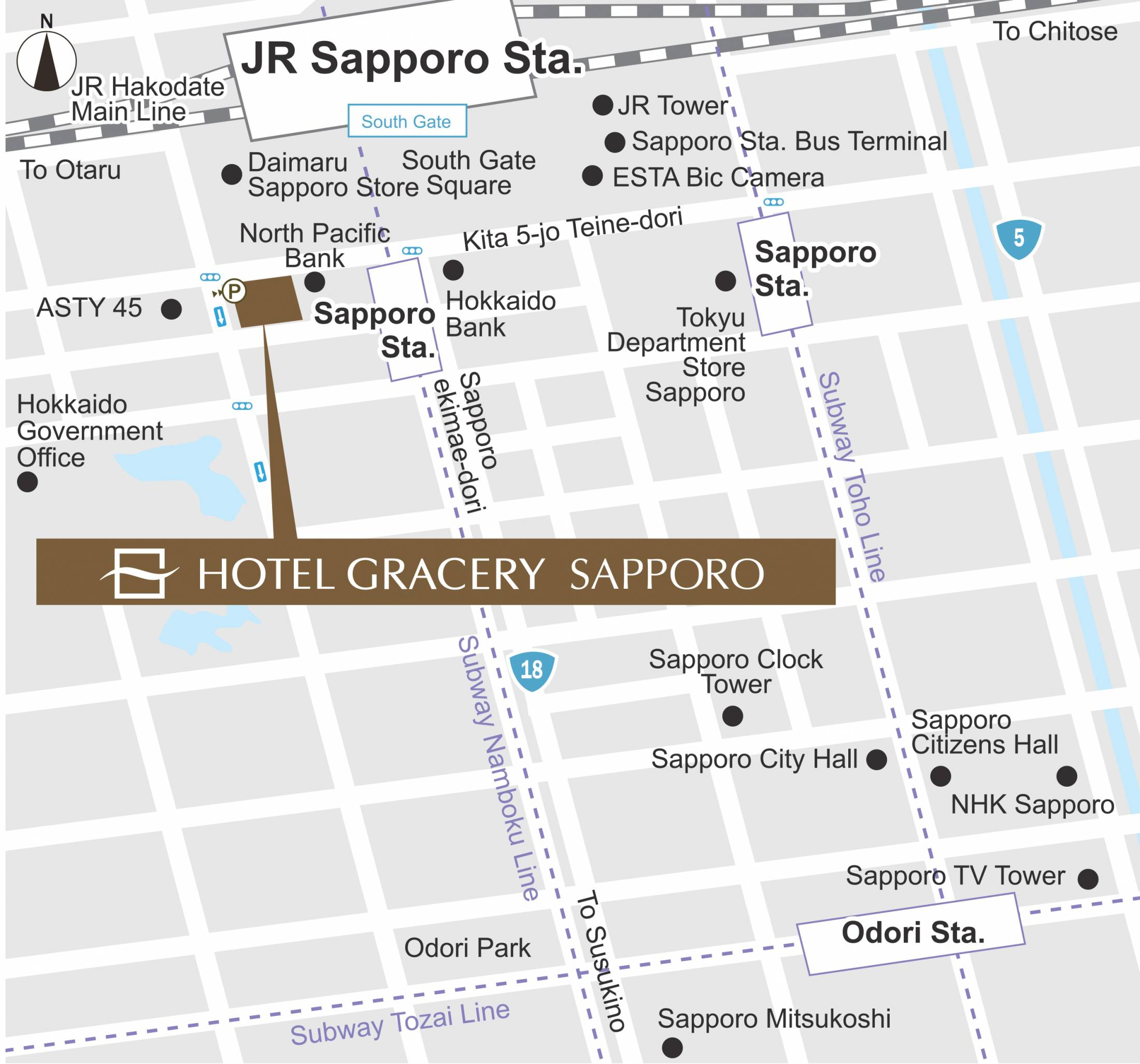 Location Hotel Gracery Sapporo